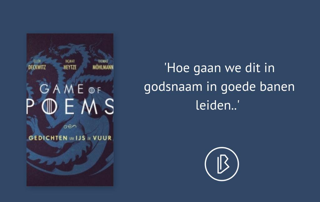 Recensie: Ellen Deckwitz, Ingmar Heytze en Thomas Möhlmann – Game of Poems